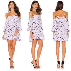 NWT Tularosa Hattie Mini Dress Lilac Polkadots xs